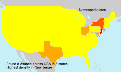 Surname Asabea in USA