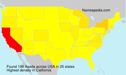 Surname Asada in USA