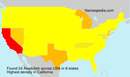 Surname Asadollah in USA