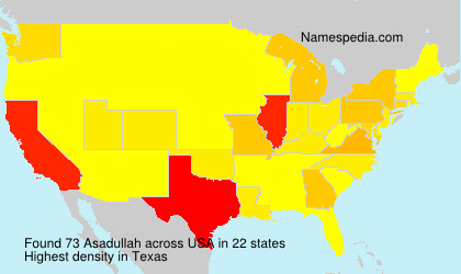 Surname Asadullah in USA