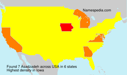 Surname Asadzadeh in USA