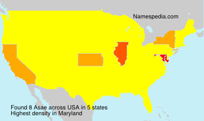 Surname Asae in USA