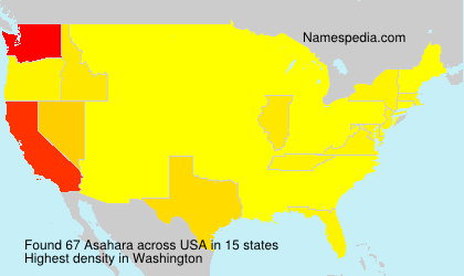 Surname Asahara in USA