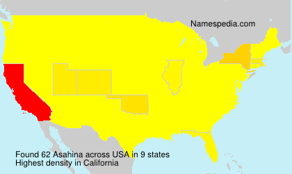 Surname Asahina in USA