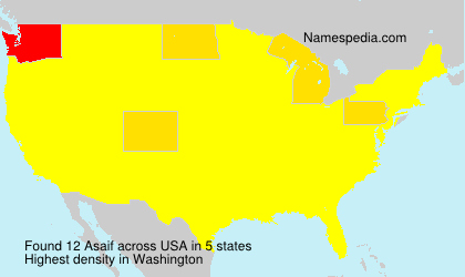 Surname Asaif in USA