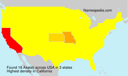 Surname Asalati in USA