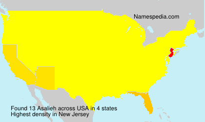 Surname Asalieh in USA