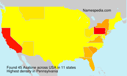 Surname Asalone in USA