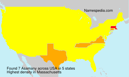 Surname Asamany in USA