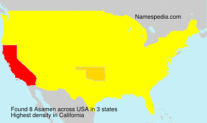Surname Asamen in USA