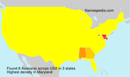 Surname Asanansi in USA