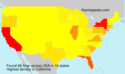 Surname Asar in USA