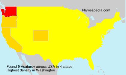 Surname Asaturov in USA