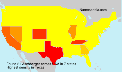 Surname Aschberger in USA