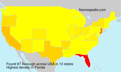 Surname Ascough in USA