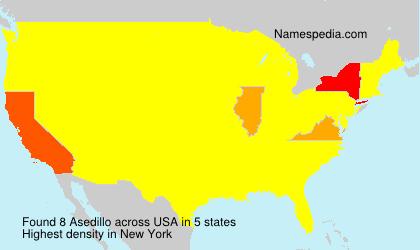 Surname Asedillo in USA
