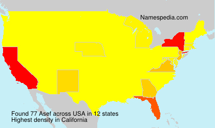 Surname Asef in USA