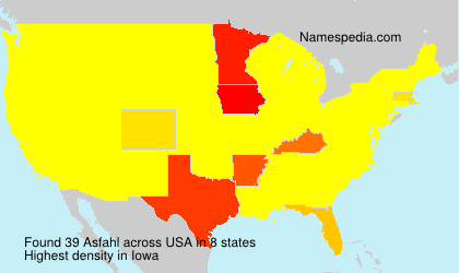 Surname Asfahl in USA