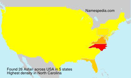 Surname Asfari in USA