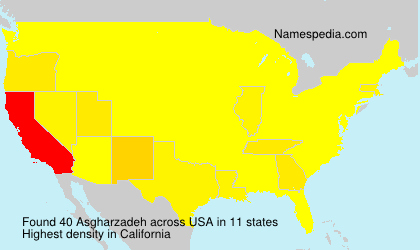 Surname Asgharzadeh in USA