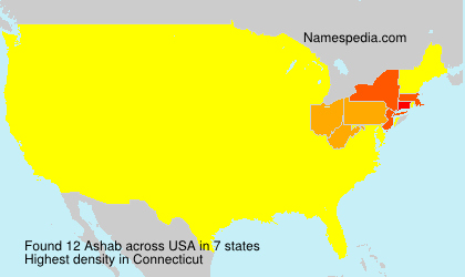 Surname Ashab in USA