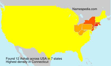 Surname Ashab in USA