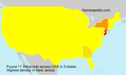 Surname Ashamole in USA