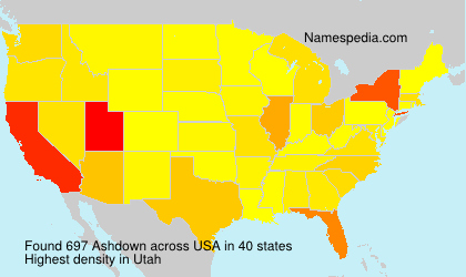 Surname Ashdown in USA