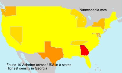Surname Asheber in USA