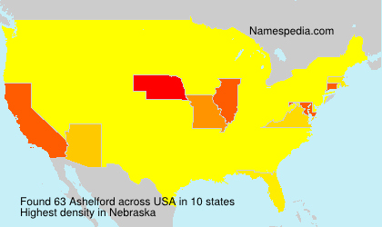 Surname Ashelford in USA