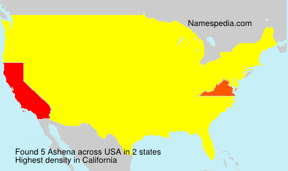 Surname Ashena in USA
