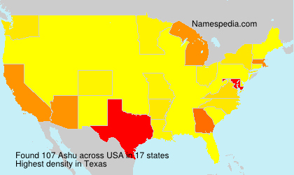 Surname Ashu in USA