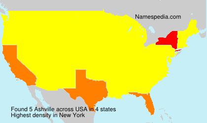 Surname Ashville in USA