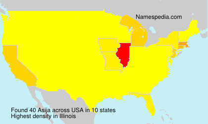 Surname Asija in USA
