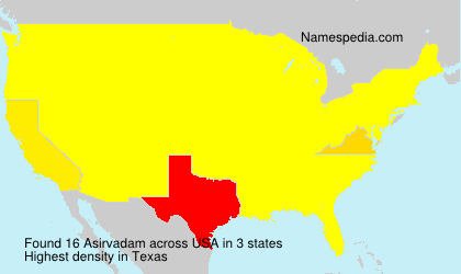 Surname Asirvadam in USA