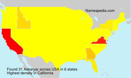 Surname Askaryar in USA