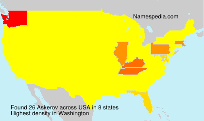 Familiennamen Askerov - USA