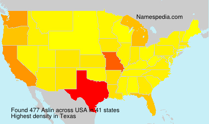 Surname Aslin in USA