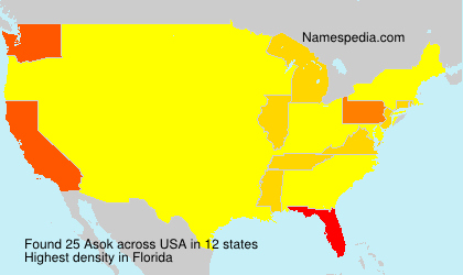 Surname Asok in USA