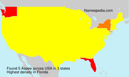 Surname Aspee in USA