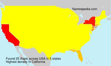 Familiennamen Aspis - USA