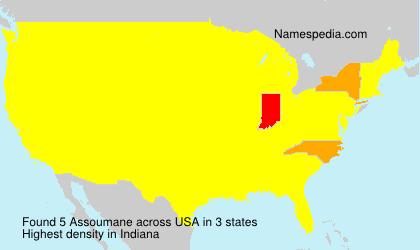Familiennamen Assoumane - USA
