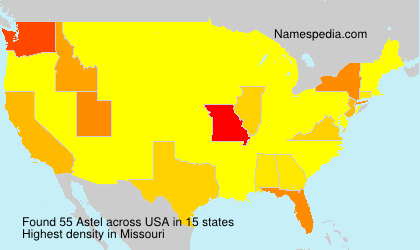 Surname Astel in USA