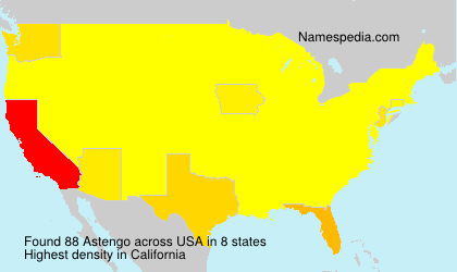 Surname Astengo in USA