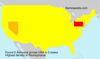 Surname Astoveza in USA