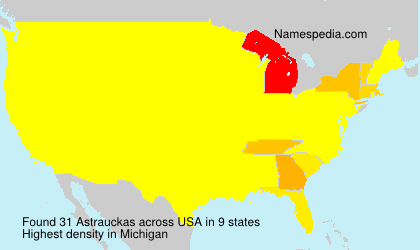 Surname Astrauckas in USA