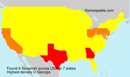 Surname Asuamah in USA