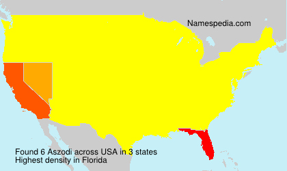 Surname Aszodi in USA