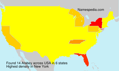 Surname Atabey in USA