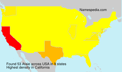 Surname Ataie in USA